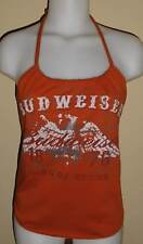 Ladies Budweiser Beer Reconstructed Party Girl Swag Shirt Halter Top DiY