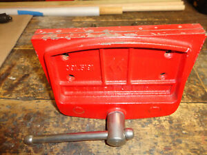 "Vintage Craftsman RED 7"" Inch 391-5191 Woodworking Vise Made In Japan"