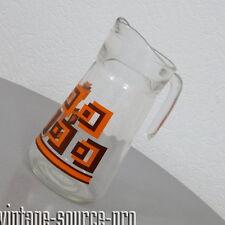 alte Pressglas Henkel Kanne Glaskanne für Tee Wasser Wein Eistee Saft 70er Jahre