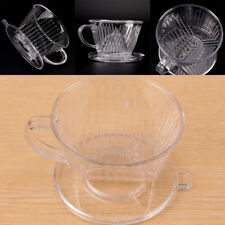 Clear Coffee Filter Cup Cone Drip Dripper Maker Brewer Holder Plastic ReusableLJ
