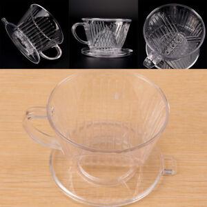 Clear Coffee Filter Cup Cone Drip Dripper Maker Brewer Holder Plastic Reusa.ec