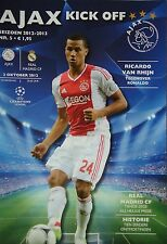 Programm UEFA CL 2012/13 Ajax Amsterdam - Real Madrid