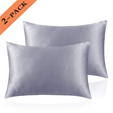 Ravmix Satin Pillowcases for Hair and Skin Set of 2 Queen Size Soft Pillow with