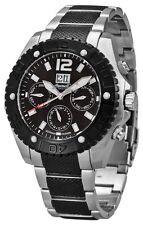 Ingersoll Men's Watch IN1210BKMB Yuca Chronograph Black Silver Stainless Steel