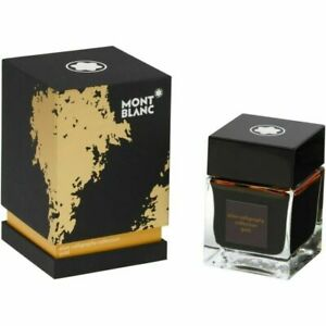 Montblanc Elixir Calligraphy Collection Yellow  Gold Ink In Bottle New 119592