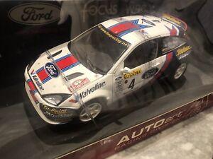 1/18 AUTOART FORD FOCUS WRC 2001,C.MCRAE/N.GRIST #4 RALLY MONTE CARLO RARE NEW