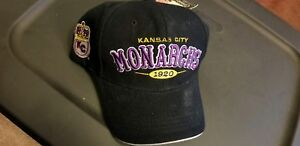 KANSAS CITY MONARCHS - NEGRO LEAGUES - VINTAGE ADJUSTABLE SNAPBACK BALL CAP HAT!