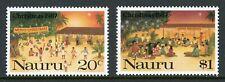 Nauru Scott #341-342 Mnh Christmas 1987 Cv$3+