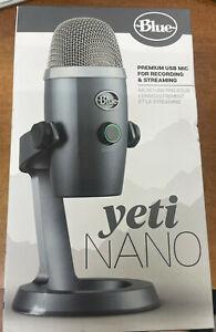 Blue Yeti Nano Gray Premium USB MIC for Recording & Streaming - 988-000394