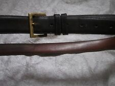 Size 40 Men's Coach MOCHA Leather Belt Solid Brass Buckle Model 7600