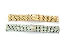 24mm mens solid stainless steel watch bracelet heavy duty butterfly buckle