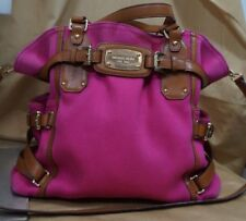 MICHAEL KORS - Large Fuchsia  canvas w/leather straps and gold hardware.