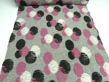Stoff Ital. Musterwalk Walkloden Boppel Eier Punkte hellgrau rosa weiß schwarz