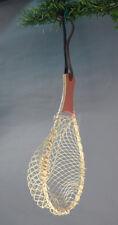 Fisherman's net  Fishing Christmas Ornament - wood, bamboo, nylon netting - Red