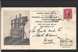 KENSINTON STATION,PENNSYLVANIA COVER,1903, #301, ADVT. SMITH,DRUM & CO. HOSIERY.