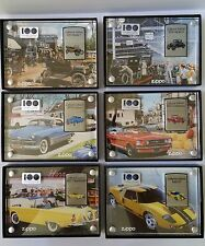 ZIPPO LIGHTERS Lot Set 6 Ford Motor Company 100 Years Heart & Soul Collection