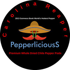 1 Fresh DRIED CAROLINA REAPER SAMPLE ---- Experience the Worlds Hottest Pepper