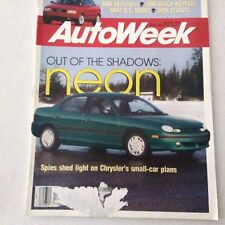 AutoWeek Magazine Chrysler Neon, Audi 90 April 26, 1993 061417nonrh2