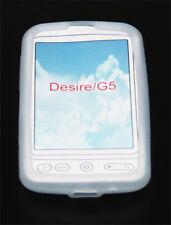 Custodia Cover in silicone per HTC Desire Bianco Custodia borsa cover skin bag silicone Cover
