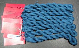 8xNeedlepoint/Embroidery THREAD CARON Impressions silk/wool-teal blue-NJ10