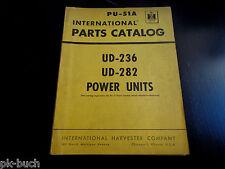 Parts Catalog / Teilekatalog International Harvester UD-236 + UD-282 Power Units