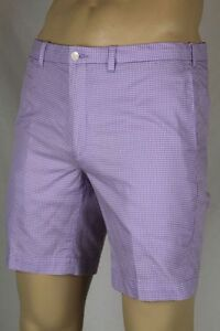 Polo Ralph Lauren Purple White Checkered Slim G.I. Fit Shorts NWT 42 $90