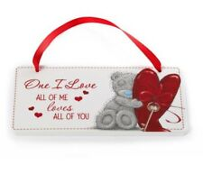 """Me To You Tatty Teddy """"One I love"""" Wall Plaque. Heart & Key Design Cute Gift"""
