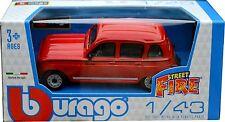 RENAULT 4 1:43 Car NEW Model Metal Diecast Models Cars Die Cast Burago