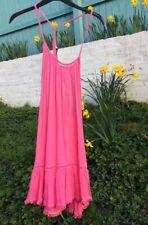 Matalan Papaya Pink Strappy Beach Dress Size L/16-18 BNWT