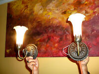 Wonderful Meyda Lighting Pond White Lily Art Nouveau Style Wall Sconces, a Pair