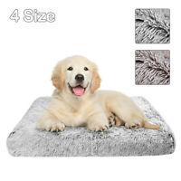 Large Pet Dog Bed Mattress Plush Warm Cushion Mat w/Removable Washable Cover
