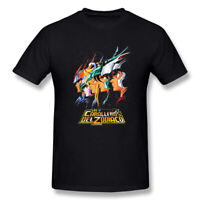 Black Saint Seiya Knights of the Zodiac Cartoon Men's T Shirts