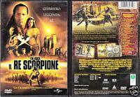Il re scorpione (2002) DVD NUOVO Sigillato The Rock