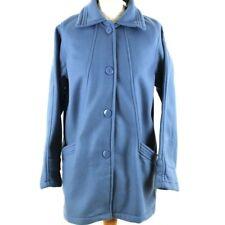 DAMART Coatigan Cardigan Coat Jacket Small UK 10 Blue Button Soft Warm Winter