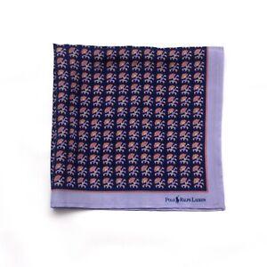 Vintage Polo Ralph Lauren Silk Pocket Square Handmade No tags