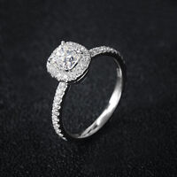 3ct Princess Cut Pink/Yellow/White Cz Band 925 Silver Women's Gift Ring Sz 4-9.5