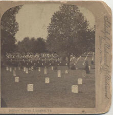 STEREOVIEW, IMAGE OF SOLDIERS GRAVES AT THE ARLINGTON CEMETERY. VA.