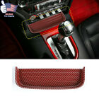 Coin Tray Console Change Storage Box Red Carbon Fiber Fit Ford Mustang 2015-19 M