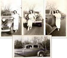 1936 Buick Four-Door Sedan Beautiful Young Woman Pennsylvania License Photos (4)
