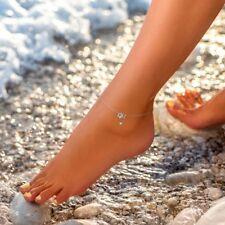 Fußkette mit Sternchen Stern Star Edelstahl silber Kette Knöchel Damen Mädchen