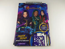 Disney Decendants 3 Fashion Design Sketchbook Stickers & Stencils Make It Real