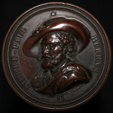 More details for 1840 | pierre paul rubens antwerp bicentenary medal | copper | medals | km coins