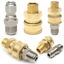 """2 pcs  3/8"""" Quick Release Connector to 3/8"""" M Adapter Pressure Washer Coupling"""
