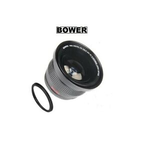 Bower Wide Angle Fisheye Lens w/Macro for Canon EF 50mm f/1.8 STM Lens