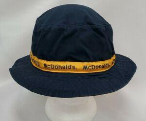 McDonalds Logo Bucket Hat Cap OS Navy Blue Fast Food