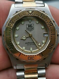Tag heuer 934.213 Two Tone 18k Gold Plated Quartz Dive Watch