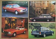 2 x 1980 Holden Commodore 4-Cylinder original sales brochures