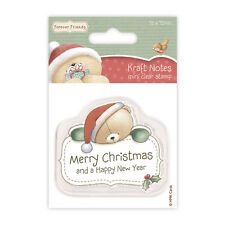 MERRY CHRISTMAS - Forever Friends Christmas Kraft Notes - Mini Clear Stamp