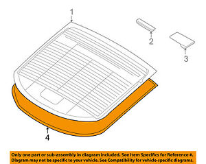 HYUNDAI OEM 10-15 Genesis Coupe Rear Window Glass-Reveal Molding 871302M000