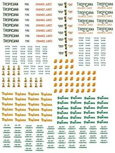 """N Scale Freight Car Decals """"TROPICANA"""""""